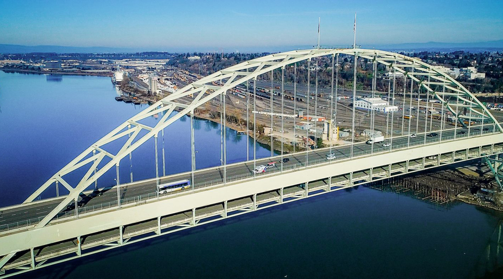 Our First Line Across the Fremont Bridge